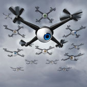Drone Privacy Issues — Stock Photo