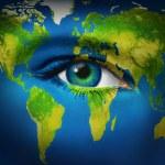 Human Eye Earth Planet — Stock Photo #8874514