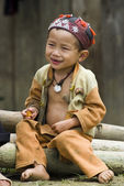 Unidentified hill tribe boy — Stock Photo
