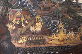 Thai mural paintings at Wat Phra Kaew — Stock Photo