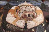 Tajski malowidła w wat phra kaew w bangkoku — Zdjęcie stockowe
