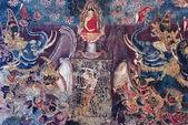 тайская живопись фрески — Стоковое фото