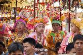 Buddhist novice ordination ceremony — Stock Photo
