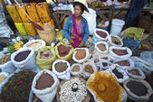 Vendor at Kalaw market, Myanmar — Stock Photo
