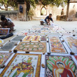 Sand paintings for sale outside a temple — Stock Photo #50948197