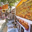 Sand paintings for sale outside a temple — Stock Photo #50948435