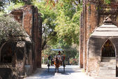 Carriage at the Tharabar Gate — Stock Photo