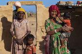 Rajasthani family — Stock Photo