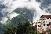 Cluster of buildings in Sapa — Stockfoto