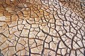Popraskané a suché půdy — Stock fotografie