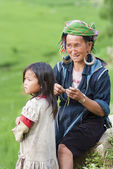 Hill tribal people at their leisure — Photo
