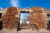 Main Prang at Wat Racha Burana — Stock Photo