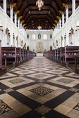 Aisle in church — Stock Photo