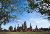 Wat Chai Wattanaram — 图库照片