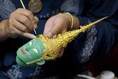 Miniatyr thailändsk mask — Stockfoto