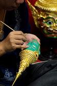 Miniature Thai mask — Stock Photo