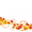 Flying autumn leaves background — Stock Vector