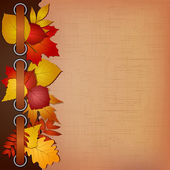 Autumn cover for an album with photos — Stock Vector