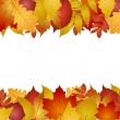 Seamless with autumn leaves — Stock Vector