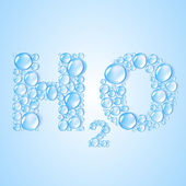 Water drops H2O shaped - vector background — Stock Vector