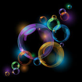 Black bubble vector background — Stock Vector
