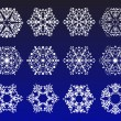 Stock Vector: Snowflake winter set vector illustration