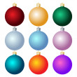 Christmas balls. Christmas decorations. — Stock Vector #13818470