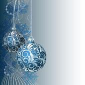 Blue Christmas card — Stock Vector