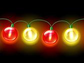 MultiColored lamp festive garland. Seamless — Stock Vector