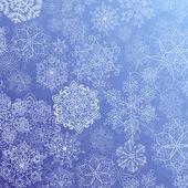 Snowy flow — Stock Vector