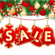 Royalty-Free Stock Vektorfiler: Christmas Sale Tags