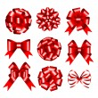 Set of red gift bows. — Stock Vector #16172673