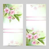 Set of spring banners — Stock Vector