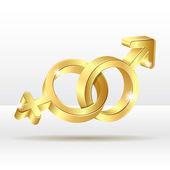 Male female symbol — Stock Vector