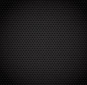 Black background of carbon fibre texture — Stock Vector