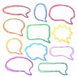 Hand-drawn, colorful speech bubbles — Stock Vector #23152748