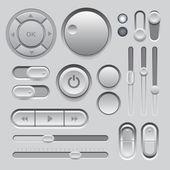 Gray Web UI Elements Design. — Stock Vector