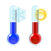 Thermometer Hot and Cold icon. — Stock Vector