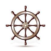 Steering wheel for ship — Stock Vector