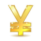 Golden Yen Sign — Stock Vector