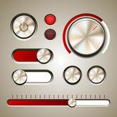 Set of the detailed UI elements — Vector de stock