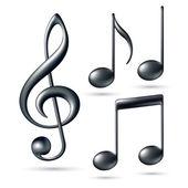 скрипичный ключ с примечаниями — Cтоковый вектор