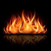 Ogień na ciemnym tle. — Wektor stockowy