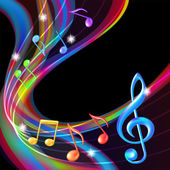Colorful abstract notes music background. — Stock Vector