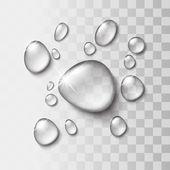 Transparent water drop — Stock Vector