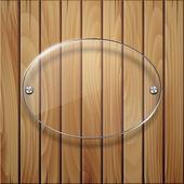 Dřevěná konstrukce se skleněnou rámcem. — Stock vektor