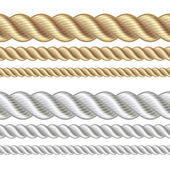 Set of different thickness ropes — Stock Vector