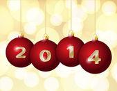 Glass Christmas Balls 2014 — Stock Vector