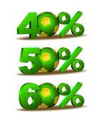 Percent discount icon — Stock Vector
