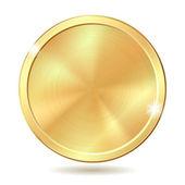Zlatá mince — Stock vektor